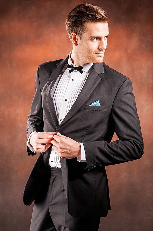 a582b2a84e385 Czarny garnitur męski który uszyjemy specjalnie dla Ciebie ! Online !