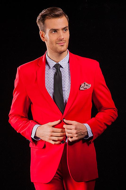 9e7eb89a5a6f3 Czerwony garnitur męski który uszyjemy specjalnie dla Ciebie ! Online !
