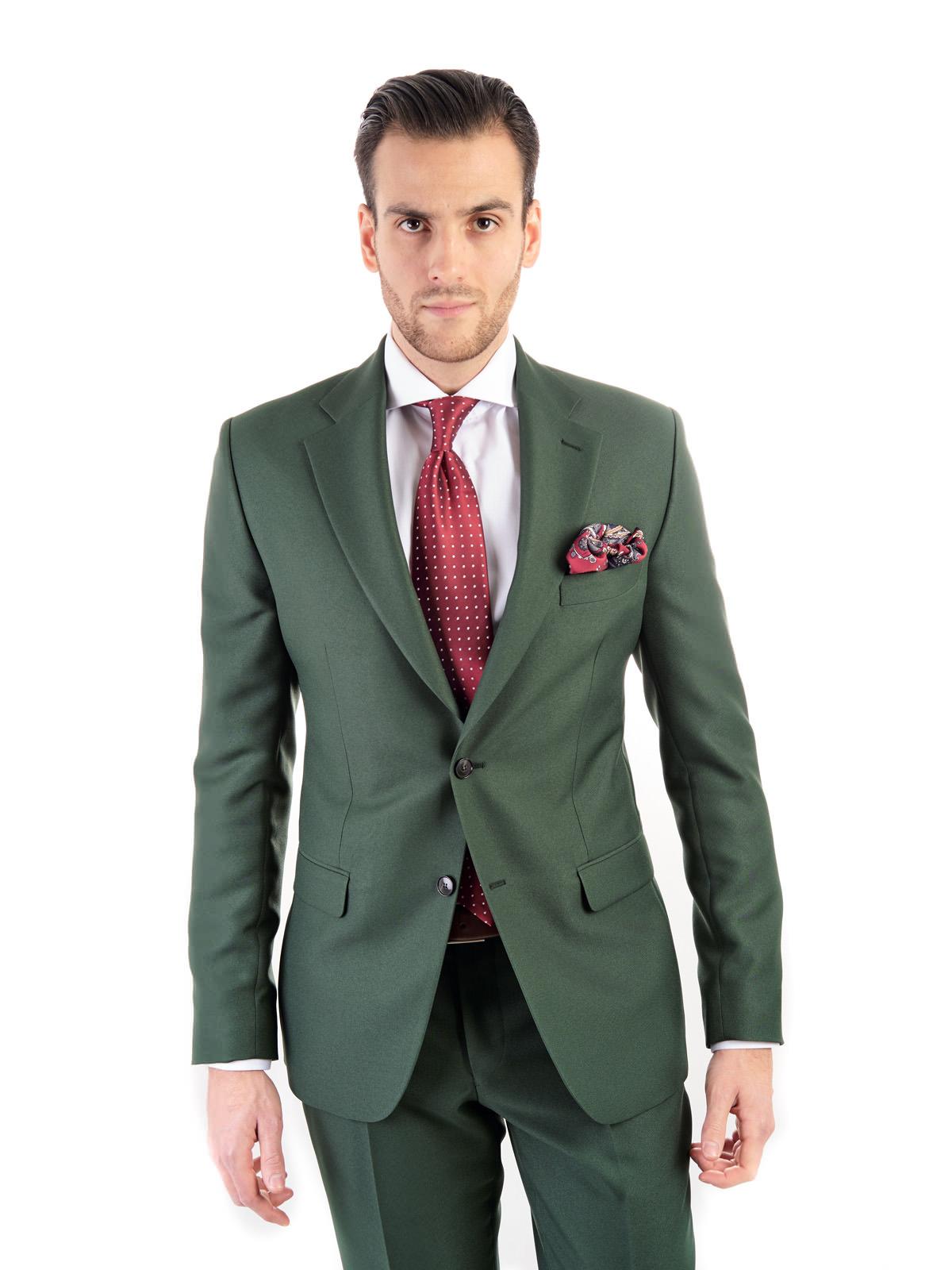 7d3862d5892b9 Zielony garnitur męski szyty na miarę | SUITSQUARE.PL