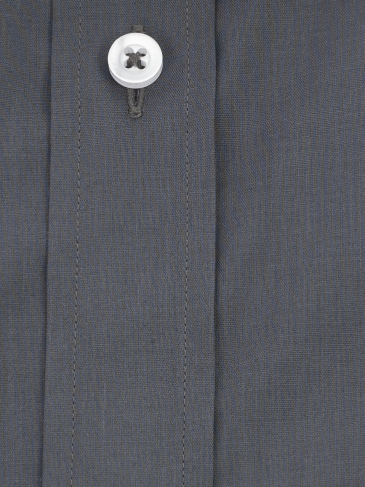 Grafitowa koszula męska szyta na miarę 80% bawełna  NWDac